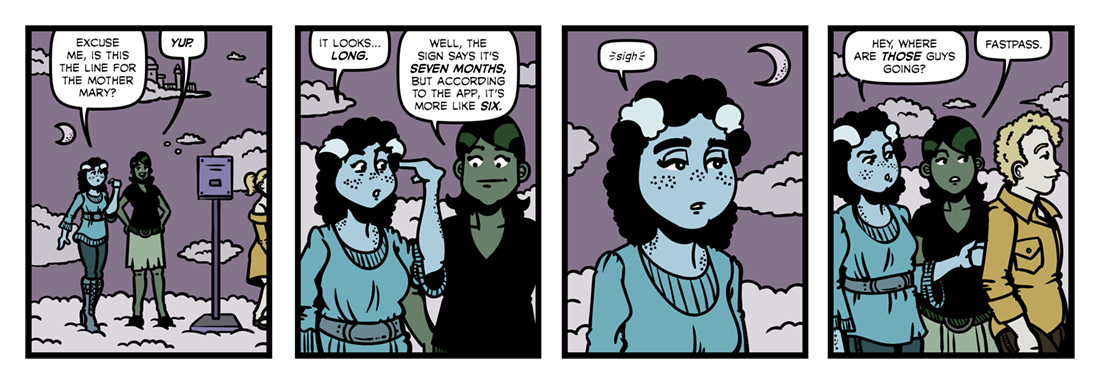 The Blessed Damozel (2)  Comic Strip