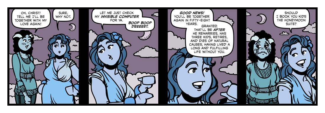 The Blessed Damozel (3)  Comic Strip