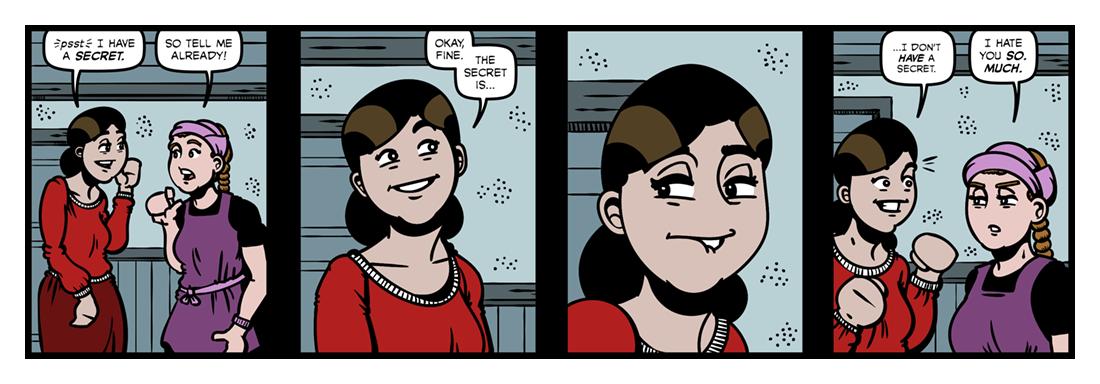 Winter: My Secret  Comic Strip