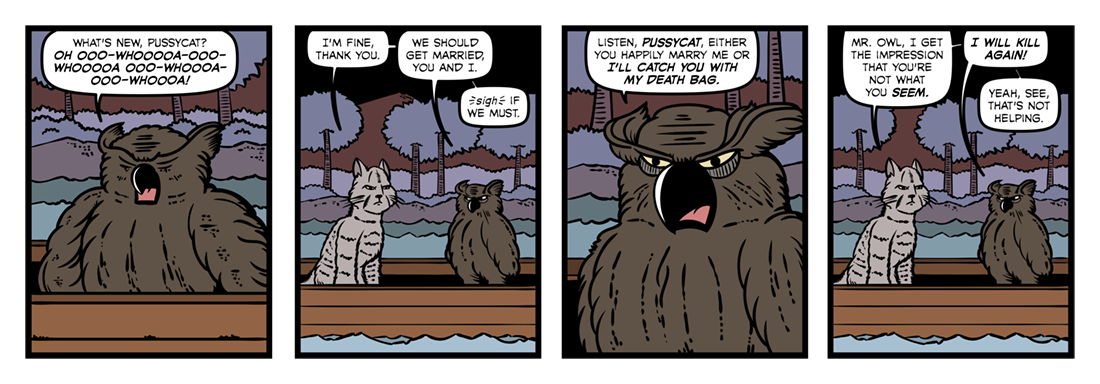 The Owl and the Pussycat  Comic Strip