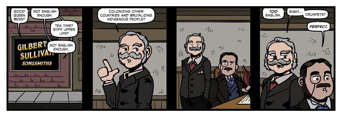 Gilbert & Sullivan  Comic Strip