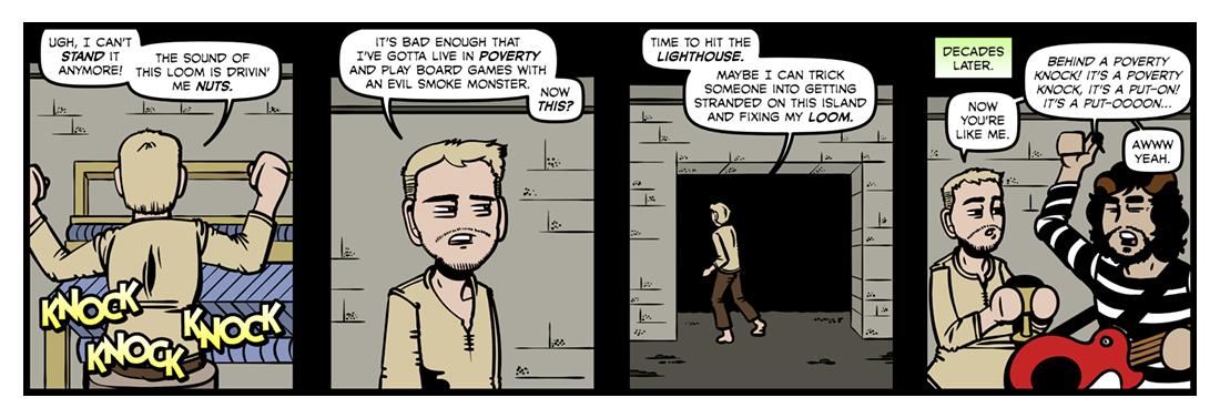 Poverty Knock  Comic Strip