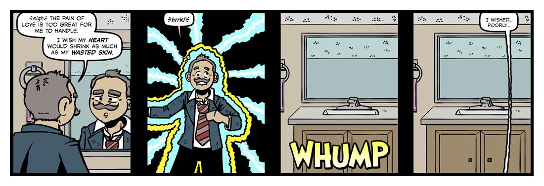 I Look Into My Glass  Comic Strip