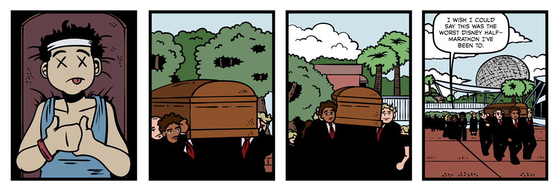 To An Athlete Dying Young  Comic Strip