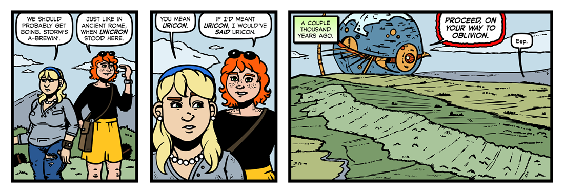 On Wenlock Edge  Comic Strip