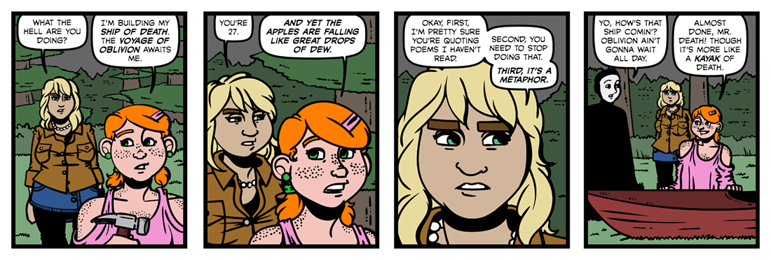The Ship of Death  Comic Strip