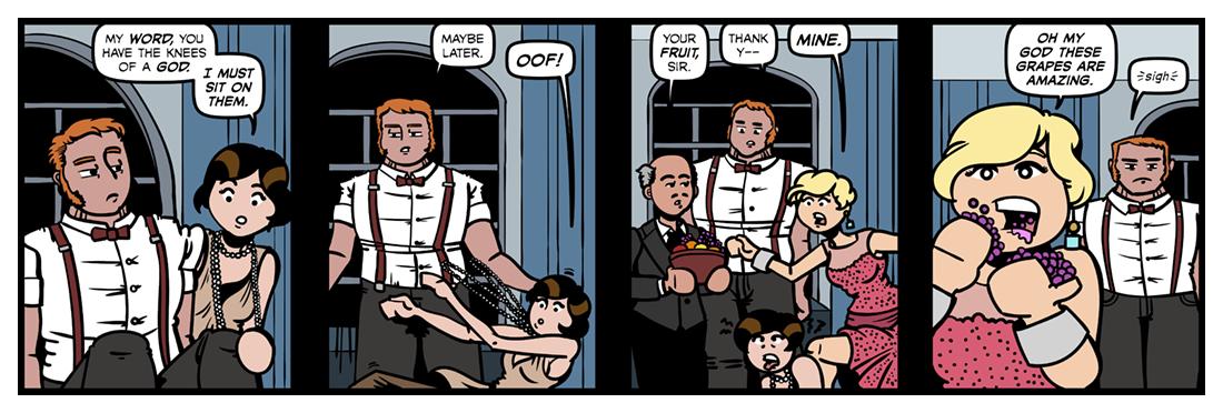 Sweeney Among The Nightingales  Comic Strip