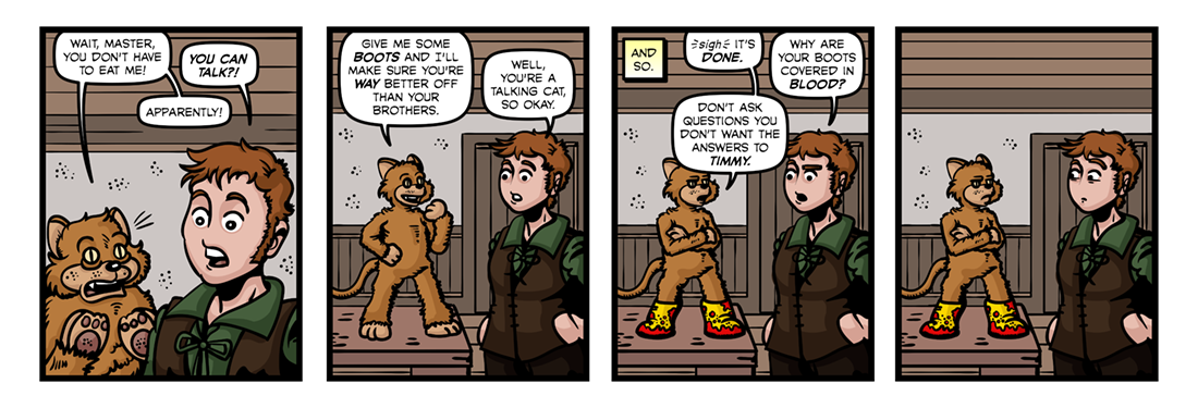 Puss In Boots (2)  Comic Strip
