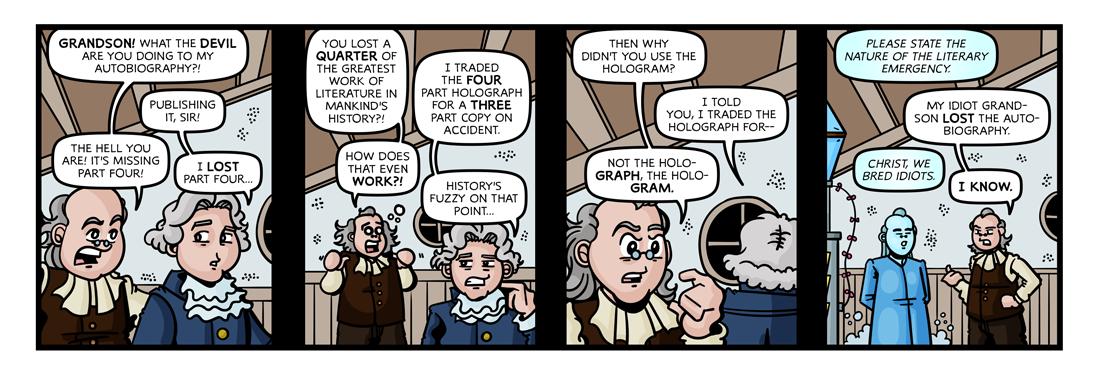 The Autobiography of Benjamin Franklin  Comic Strip