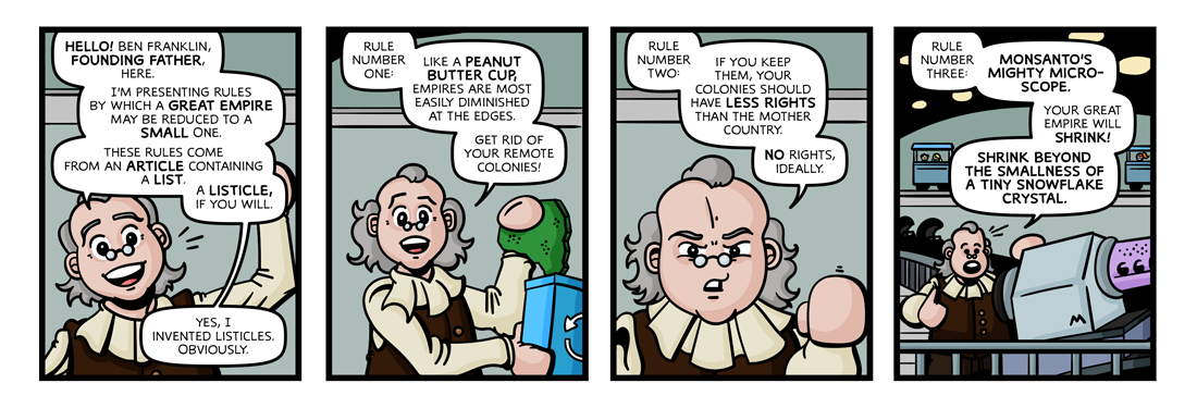 Rules By Which A Great Empire May Be Reduced To A Small One  Comic Strip